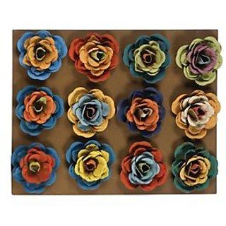 12 Flowers Metal Wall Magnet