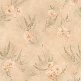 Mirage 989-64870 Liang Peach Chinese Floral Wallpaper