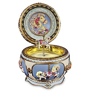 Carousel Horse Hinged Trinket Box by San Francisco Music Box Company