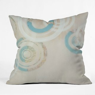 DENY Designs Stacey Schultz Circle World 1 Throw Pillow, 16 x 16
