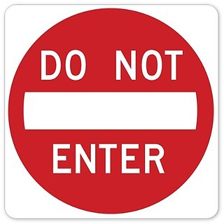 Walls 360 Peel & Stick Traffic and Street Sign Wall Decals: Do Not Enter (12 in x 12 in)