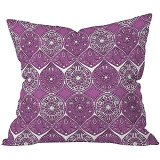 DENY Designs Sharon Turner Saffreya Orchid Throw Pillow, 26 x 26