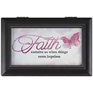Carson Home Accents Faith Music Box