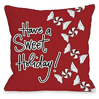 Bentin Home Decor Sweet Holiday Throw Pillow by Timree Gold, 18