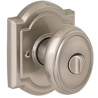 Baldwin 353CYK ARB 15 Carnaby Bed/Bath Knob, Satin Nickel