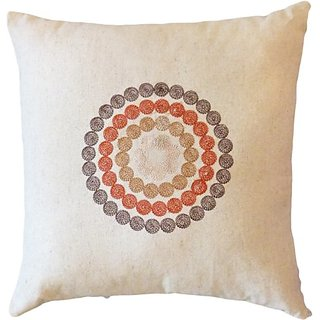 Decorative Embroidered Circles Throw Pillow COVER 17