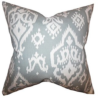 The Pillow Collection Baraka Ikat Pillow, Gray