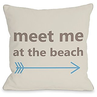 Bentin Home Decor Meet Me at the Beach Throw Pillow w/Zipper by OBC, 14