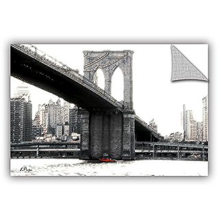 ArtWall Linda Parkers NYC Brooklyn Bridge Appeelz Removable Graphic Wall Art, 16 by 24