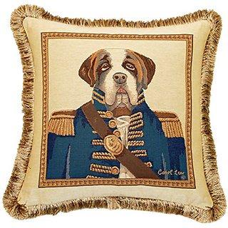 Corona Decor French Woven Sir Winston Jacquard Throw Pillow