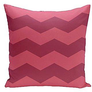 E By Design CPG-N41-Lipstick_Junior-16 Chevron Cotton Decorative Pillow, 16-Inch, Lipstick Junior