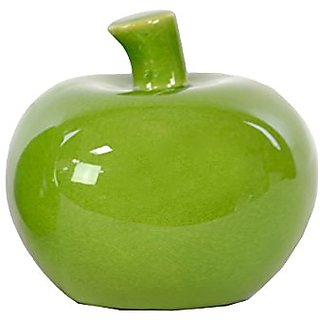 Urban Trends Ceramic Apple, Green