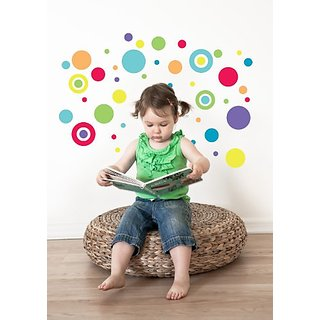 Forwalls Bright Colored Dots Removable Wall Decal Stickers