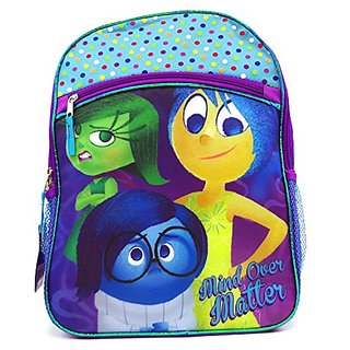 Disney Pixar Big Head Inside Out Blue Large Backpack with 1pc Eraser