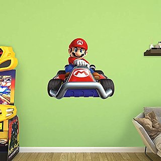 Fathead Peel and Stick Decals Nintendo Mario Kart 7 Mario RealBig Collection Wall Decal