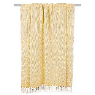 DII 100% Cotton Chevron Herringbone Throw for Indoor/Outdoor Use Camping BBQs Beaches Everyday Blanket, 50 x 60