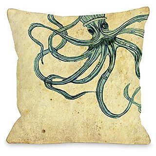 Bentin Home Decor Octopus Throw Pillow by OBC, 18