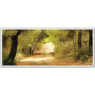 JP London PAN5248 uStrip Autumn Country Dirt Road High Resolution Peel Stick Removable Wallpaper Sticker Mural, 48