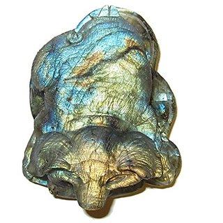 Animal Pig Labradorite 01 Top Quality Blue Gold Rainbow Crystal Prosperity Money Stone Energy Statue 3
