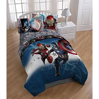 Marvel Captain America Civil War Microfiber Twin Comforter 64in x 86in