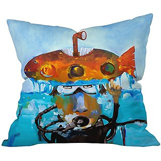 DENY Designs Robin Faye Gates Day 12 All Clear Throw Pillow, 18 x 18