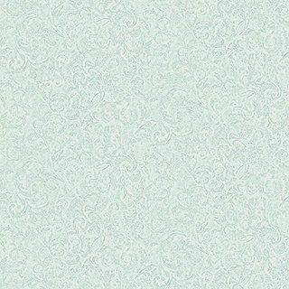 York Wallcoverings SH5517 Vintage Luxe Imprint Scroll Wallpaper, Pale Aquamarine, Aqua