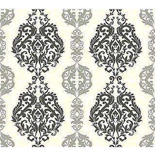 York Wallcoverings GE3697 Ashford Geometrics Chalet Wallpaper, Dark/Medium/Light Grey