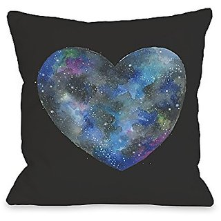Bentin Home Decor Single Cosmic Heart Throw Pillow by Ana Victoria Calderon, 18