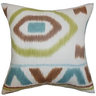 The Pillow Collection Hali Geometric Pillow, Coral