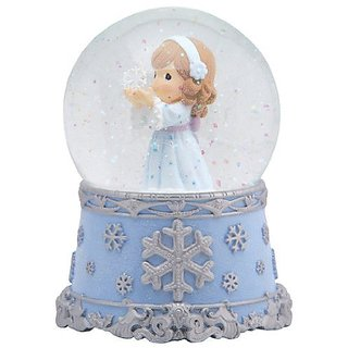 Precious Moments Angel With Snowflake Waterball