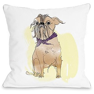 Bentin Home Decor Terrier Throw Pillow w/Zipper by Judit Garcia Talvera, 18