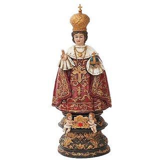 Infant Jesus Of Prague Sculpture In Vivid Colors Miraculous Power Saint Teresa