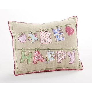 Delton Products Be Happy Throw Pillow