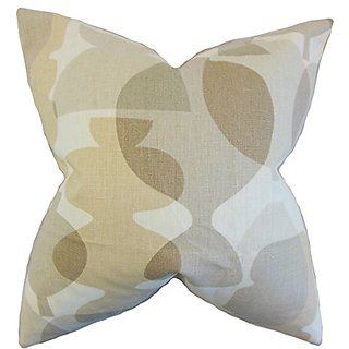 The Pillow Collection P20-PT-POTS-SANDSTORM-L100 Orla Geometric Pillow, Sandstorm, 20