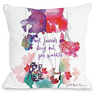 Bentin Home Decor Summer Legs Throw Pillow w/Zipper by Judit Garcia Talvera, 18