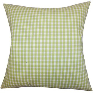 The Pillow Collection P20-D-32466-GREEN-C100 Hartley Plaid Pillow, Green, 20