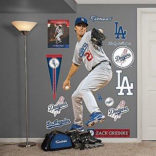 MLB Los Angeles Dodgers Zack Greinke Fathead Wall Decal, Real Big