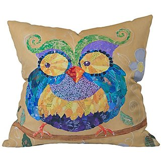 DENY Designs Elizabeth St Hilaire Nelson Owl Always Love You Too Throw Pillow, 26 x 26