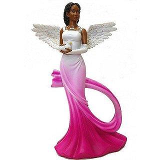 Sash Angel in Fuchsia African American Angel Statue