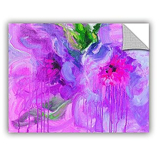 ArtWall Svetlana Novikovas Purple Pink Flowers Art Appealz Removable Wall Art Graphic, 18 by 24-Inch