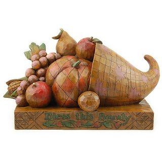 Enesco Jim Shore Heartwood Creek Heritage Horn of Plenty Figurine, 6-1/2-Inch