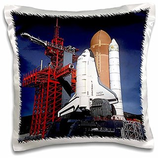 3dRose pc_98574_1 Closeup Photo Of the Enterprise Shuttle.jpg-Pillow Case, 16 by 16