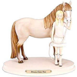 Enesco Horse Whispers Dreams Come True Figurine, 6-Inch