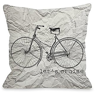 Bentin Home Decor Lets Cruise Paper Texture Throw Pillow by OBC, 18