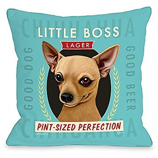 Bentin Home Decor Chihuahua Throw Pillow w/Zipper by Retro Pets, 18