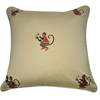 Loom & Mill P0033-2020P Decorative Pillow, 20 by 20-Inch, Khaki