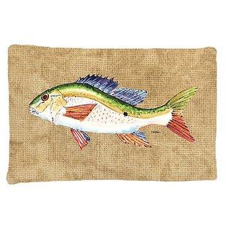 Carolines Treasures 8816PILLOWCASE Rainbow Trout Moisture Wicking Fabric Standard Pillowcase, Large, Multicolor