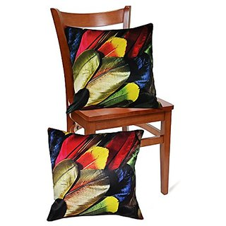 Set of 2,3D Multicolour Wings Design Throw Pillow Case Cushion Covers 16 X 16 Inches-Perfect Bed,Sofas Cushion Cover