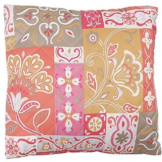 Stylemaster Home Products Kendall Printed Decorative Pillow, 16 by 16-Inch, Coral