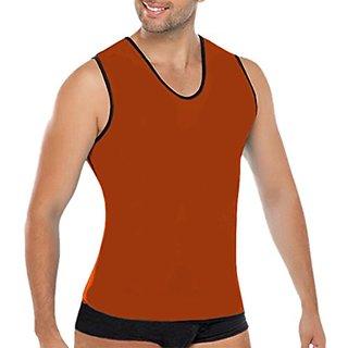 NonEcho 10mm Neoprene Mens Vest with Zip,Brown,XX-Large,XX-Large